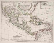 MEXICO,FLORIDA,WEST INDIES NOUVELLE ESPAGNE NOUVELLE MEXIQUE ISLES ANTILLES