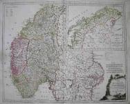 NORWAY KARTE KONIGREICHE NORWEGEN