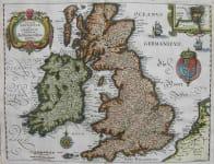 BRITISH ISLES MAGNAE BRITANNIAE ET HIBURNIAE TABULAE