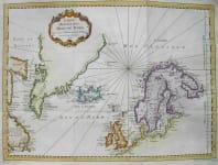 NORTHERN ATLANTIC GREENLAND SCANDINAVIA CARTE REDUITE DES MERS DU NORD