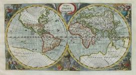 WORLD HEMISPHERES TYPUS ORBIS TERRARUM