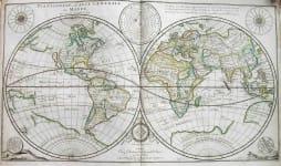 WORLD PLANISPHERE , OU CARTE GENERALE DU MONDE