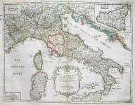 ITALY CARTE DE L'ITALIE ET DES ISLES ADJACENTES
