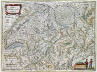 SWITZERLAND NOVE HALVETIAE TABULA