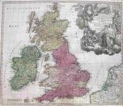 BRITISH ISLES MAGNA BRITANNIA COMPLECTENS ANGLIAE, SCOTIAE ET HIBERNIAE REGNA