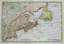 CANADA NEW ENGLAND L'ISLE DE TERRE NEUVE,L'ACADIE OU NOUVEAU ECOSSE, LA PARTIE ORIENTALE DU CANADA