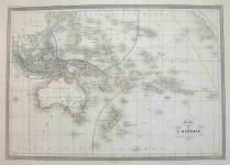 AUSTRALIA NEW ZEALAND CARTE DE L'OCEANIE