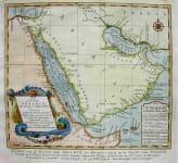 ARABIA CARTE DE LA COSTE D'ARABIE