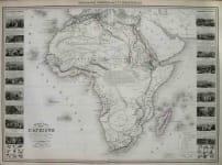 AFRICA NOUVELLE CARTE ILLUSTREE L'AFRIQUE