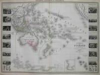 OCEANIA AUSTRALIA NOUVELLE CARTE ILLUSTREE DE L'OCEANIE
