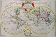 WORLD MAPPE-MONDE DRESSE SUR LES OBSERVATIONS