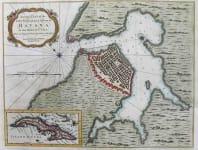 CUBA HAVANA AN EXACT PLAN OF THE CITY FORTIFICATIONS & HARBOUR OF HAVANA