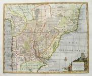 A NEW AND ACCURATE MAP OF PARAGUAY,RIO DE LA PLATA