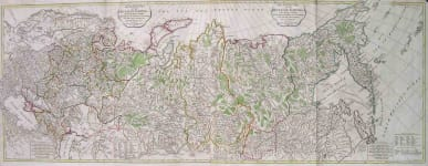THE RUSSIAN EMPIRE  LARGE WALL MAP