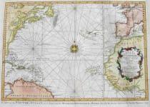 ATLANTIC OCEAN CARTE DE L'OCEAN OCCIDENTAL