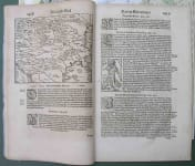 TURKISH EMPIRE REGIONS RARE SECTION OF COSMOGRAPHIA