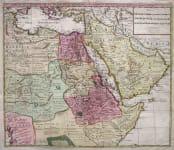EGYPT SAUDI ARABIA SUDAN ETC CARTE DE L'EGYPTE DE LA NUBIE DE L'ABYSSINIE