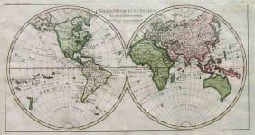 WORLD MAP L'ANCIEN MONDE ET LE NOUVEAU