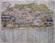 ROME NOUVEAU PLAN DE LA VILLE DE ROME