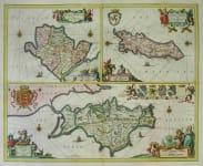 BRITISH ISLANDS MONA INSULA VULGO ANGLESEY  MONA INSULA VULGO THE ISLE OF MAN  MONA INSULA ANGLICE THE ISLE OF WIGHT
