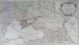 BLACK SEA GEORGIA CARTE DES ENVIRONS DE LA MER-NOIRE
