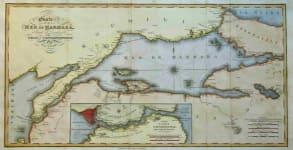 SEA OF MARMARA CARTE DE LA MER DE MARMARA