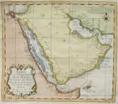 ARABIA CARTE DE LA COSTE D'ARABIE, MER ROUGE