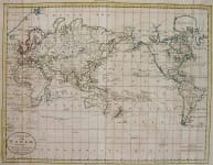 WORLD A CHART OF THE WORLD ACCORDING TO MERCATORS PROJECTION SHEWING THE LATEST DISCOVERIES OF CAPT COOK
