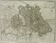 LILLE PLAN OF THE CITY AND CITADEL OF LISLE