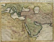 TURKISH EMPIRE OTTOMAN CARTE DE LA TURQUIE DE L,ARABIE ET DE LA PERSE AVEC LEURS DEPENDENCES