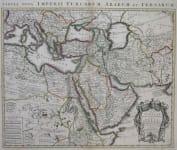 TURKISH EMPIRE CARTE DELA TURQUIE DE L'ARABIE