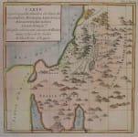 HOLY LAND CARTE REPRESENTANT LA SITUATION DES ETATS DES CANANEENS, MOABITES, MADIANITES