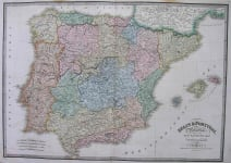 SPAIN SPAIN & PORTUGAL REDUCED FROM JASR NANTIAT'S MAP