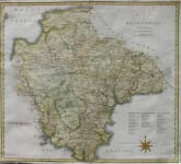 DEVON A MAP OF DEVONSHIRE FROM THE BEST AUTHORITIES