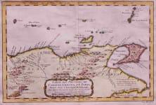 TRINIDAD VENEZUELA CARTE DES PROVINCES DE CARACAS COMANA ET PARIA