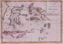 EAST INDIES CARTE DES ISLES MOLUQUES