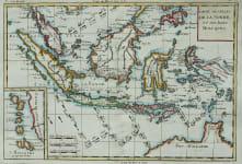 INDONESIA BORNEO CARTE DES ISLES DE LA SONDE