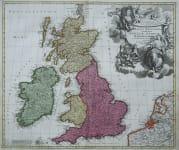 BRITISH ISLES MAGNA BRITANNIA COMPLECTENS ANGLIA SCOTIA HIBERNIAE REGNA