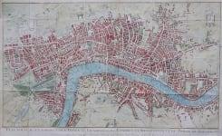 LONDON PLAN NOUVEAU ET CORRECT DES VILLES ET FAUXBOURGS DE LONDRES ET WESTMINSTER ET DU BOURG DE SOUTHWARK