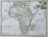 AFRICA CARTA GENERALE DELL' AFRICA