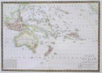 AUSTRALIA NEW ZEALAND CARTE GENERALE DE OCEANIE