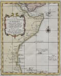 EAST AFRICA COAST CARTE DE LA COSTE ORIENTALE D'AFRIQUE
