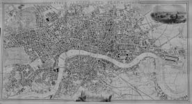 LONDON  PAYNE'S ILLUSTRATED PLAN OF LONDON