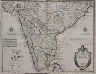 INDIA  CARTE DES COTES DE MALABAR