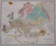 EUROPE     GEOLOGICAL MAP OF EUROPE  ..  JOHNSTON