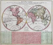 ANTIQUE MAP OF THE WORLD    NEUE WELT- KARTE
