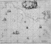 SEA CHART  SPAIN, WEST AFRICA, AZORES, CANARIY ISLES, CAP VERDE ..