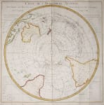 SOUTHERN HEMISHERE  SOUTH POLE   COOK'S VOYAGES