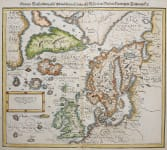 NORTH ATLANTIC ICELAND FICTIOUS ISLANDS  FREISLAND.. 1570