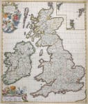 DE WIT MAP OF  BRITISH ISLES